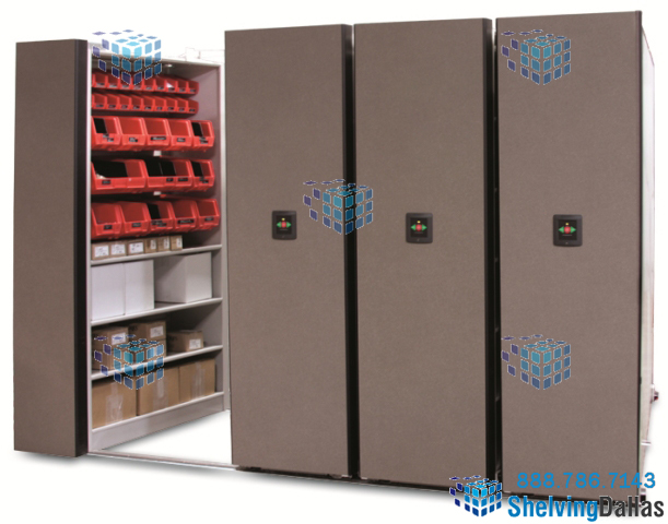Automated High Density Shelving Parts Storage Rolling Shelves