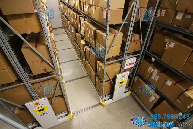 Box Shelving Warehouse Storage Rolling Racks Dallas
