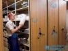 heavy-duty-steel-supply-room-shelving-shelves-roll-tracks-spinning-handles-ft-worth-waco-tyler-wichita-falls-shreveport-killeen-texarkana-abilene